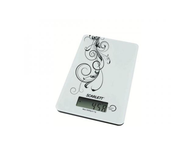 Бытовые весы Scarlett SC -1212 (белый с черным)