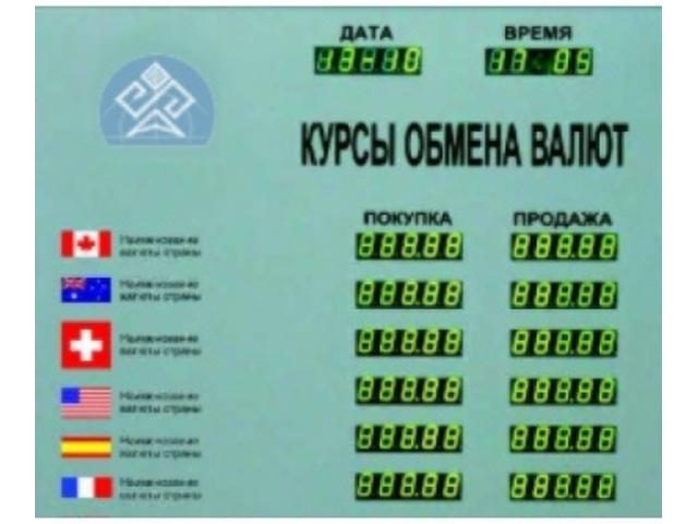 Табло курсов валют CERB-16 (доп. информация)
