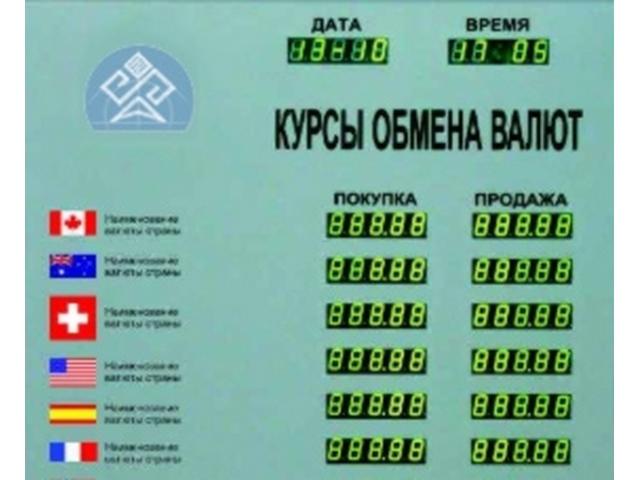 Табло курсов валют CERB-6 (доп. информация)