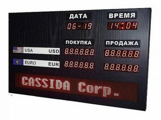 Табло курсов валют Cassida R-2L (доп. информация)